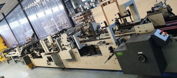 Folder gluer Bobst Domino 90 age 1990 with Handypack
