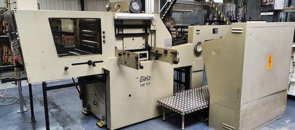 Hotfoil stamping automat Gietz FSA 720