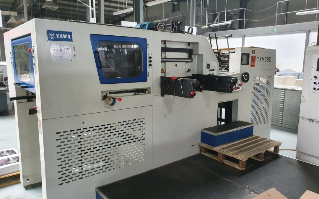 Automatic hot-stamping and die-cutting machine YAWA TYM 790 age 2007